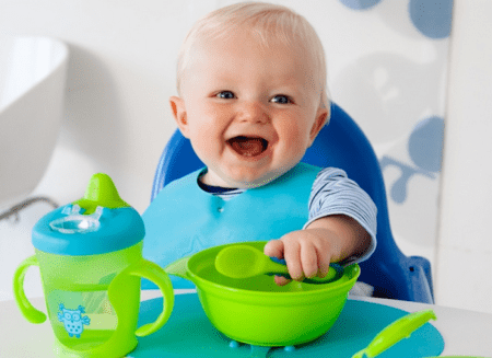 Menu of the child in 8 months